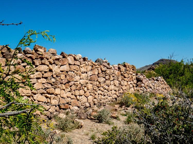 Rock wall ruin