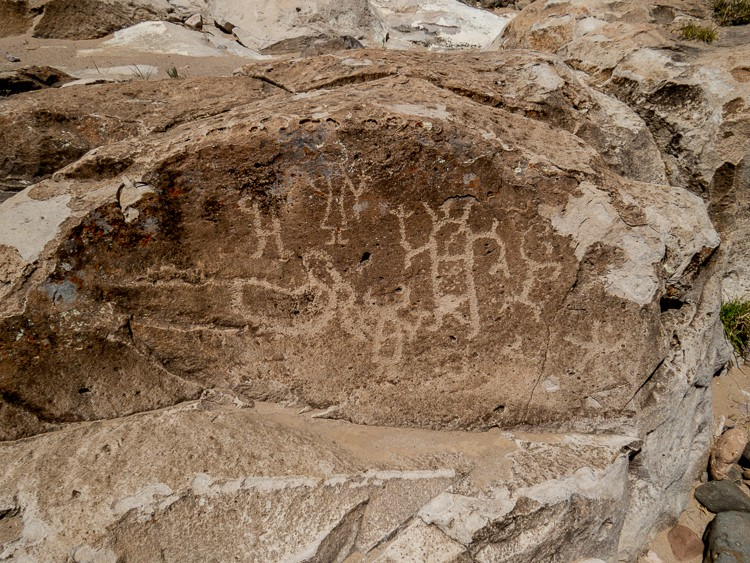 First of several petroglyphs