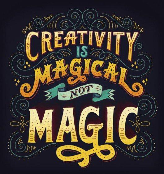 Creativity is Magical, not Magic.