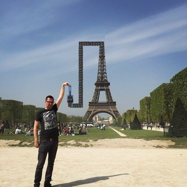 TForced Perspective with Sid Frisjes and Eiffel Tower