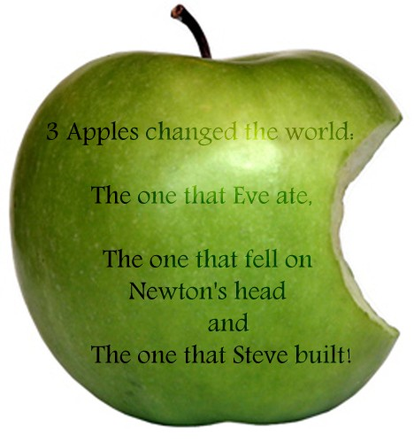 Three apples that changed the world: Eve, Newton and Jobs