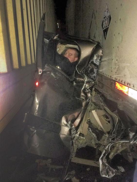 Crushed Chevrolet Silverado