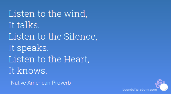 Listen to the Wind, It Talks.