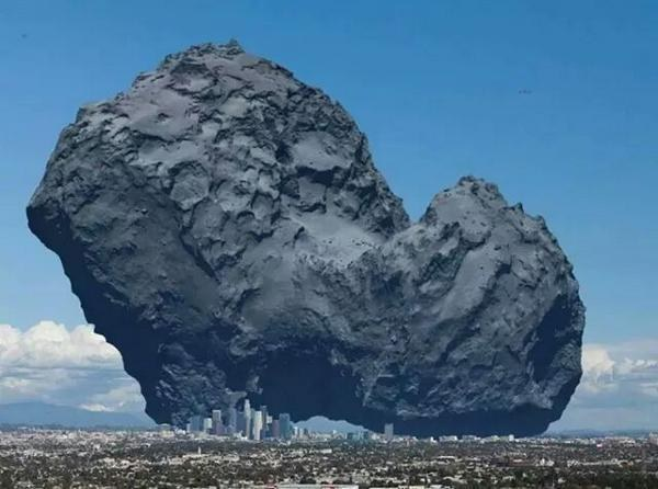 Comets can be the size of a city!