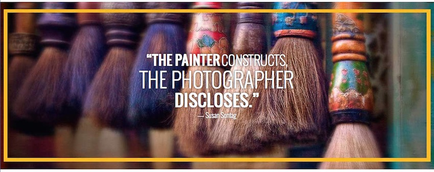 The Painter Constructs, The Photographer Discloses