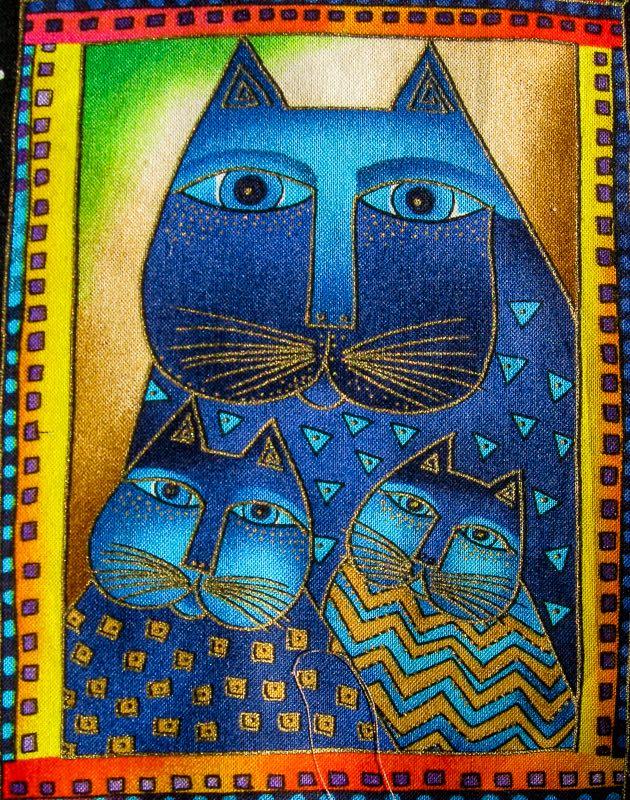 Laurel Burch Cat Quilt Square