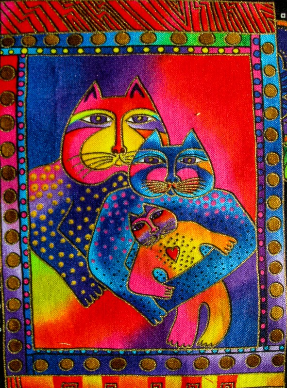 Laurel Burch Cat Quilt Square