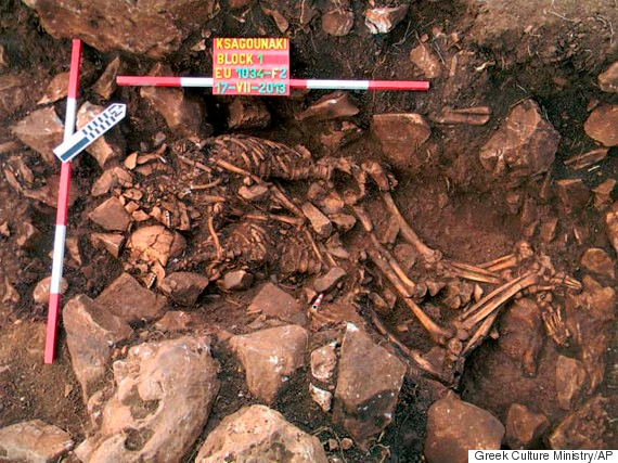 Neolithic Couple in Love at Death