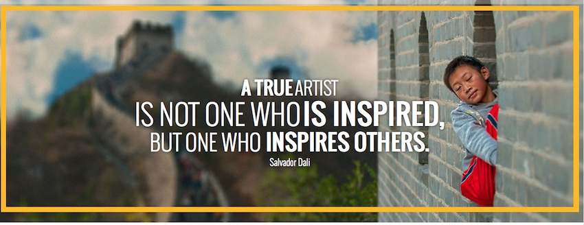 A True Artist Is Not One Who Is Inspired, But One Who Inspires Others