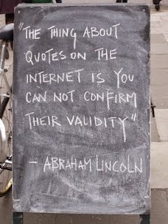 Internet quote validity Abraham Lincoln