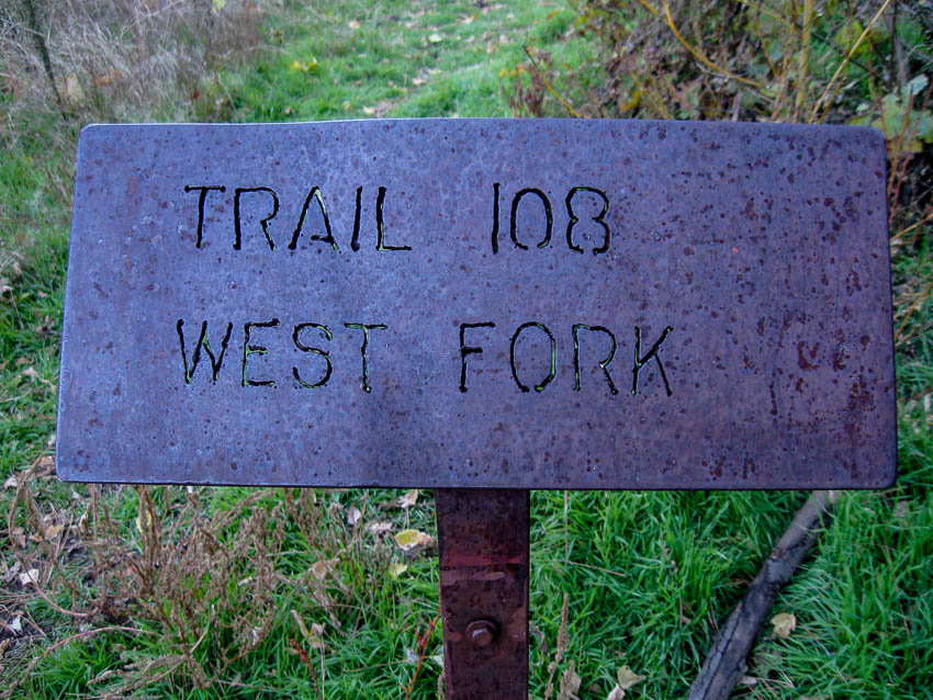 West Fork Trail #108 Sign