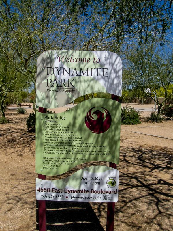 Dynamite Park Sign