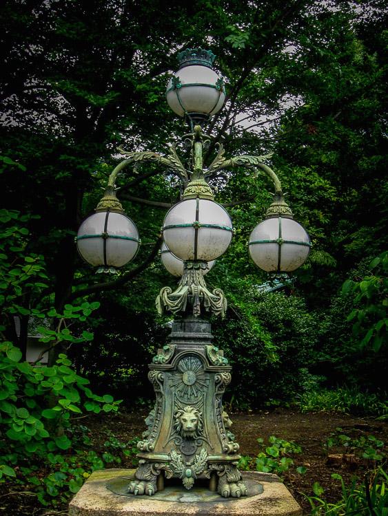 Ornate lamp post