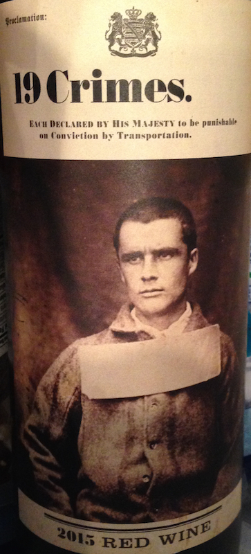 19 Crimes Wine Label