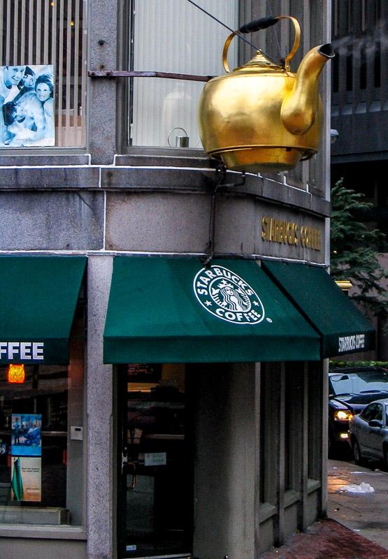 Starbucks Coffee Shop Boston Taken with the Canon  A75