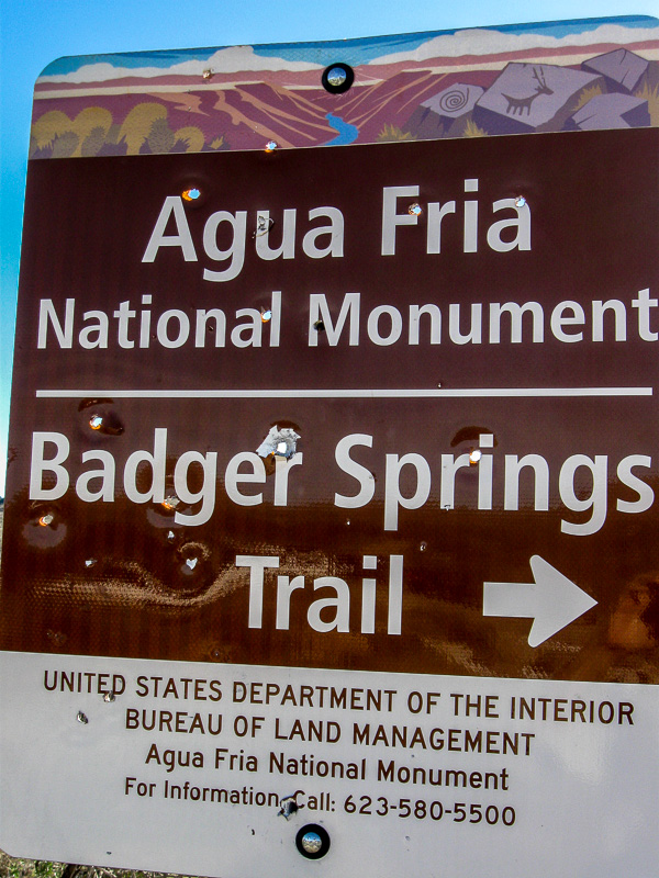 Agua Fria Nat'l Monumnet Sign