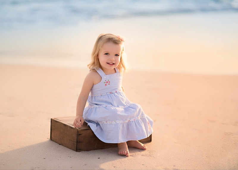 A Beautiful Portrait of a Young Girl at the Beach