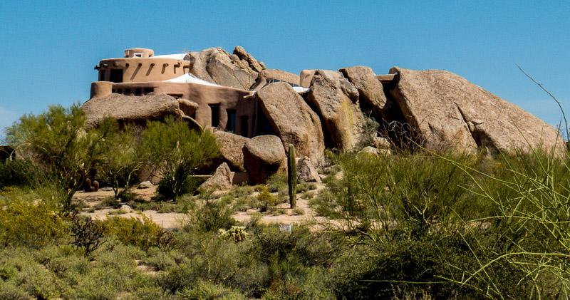 The Unique and Beautiful Boulder House, Scottsdale, AZ
