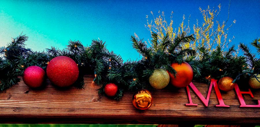 Traditional Holiday accents at the DBG