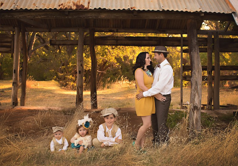 Family Portrait in a Rural Setting