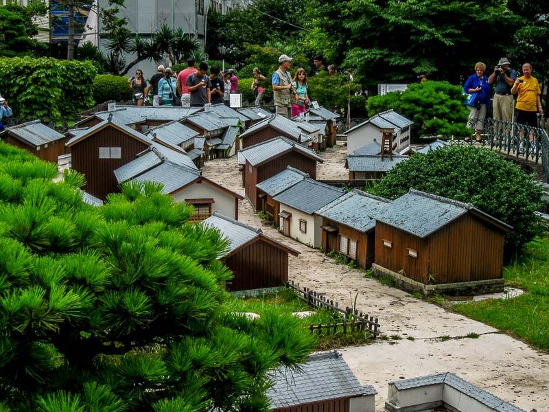 A model replica of Dejima, Japan