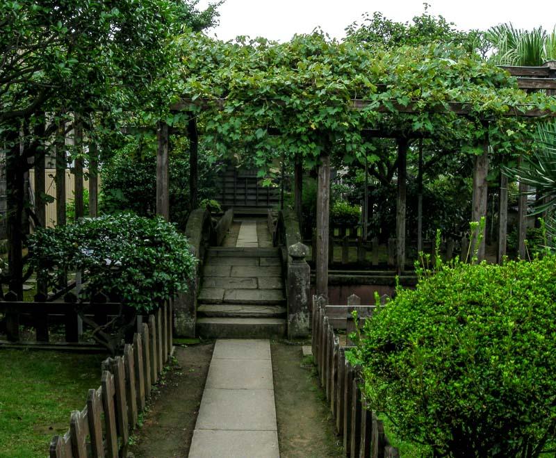 A garden inside Dejima, Japan