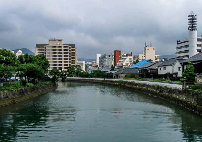 Body of water separating Dejima, Japan