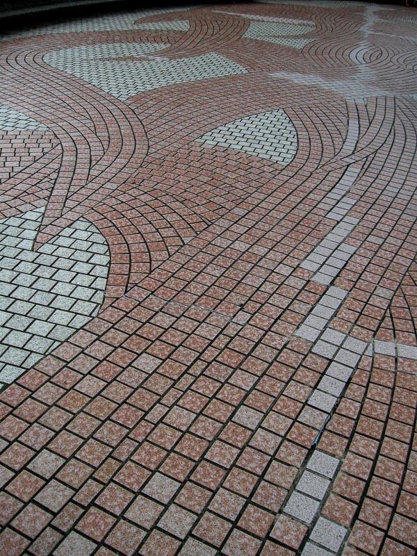 Symbolic walkway symbolizing explosion, Nagasaki