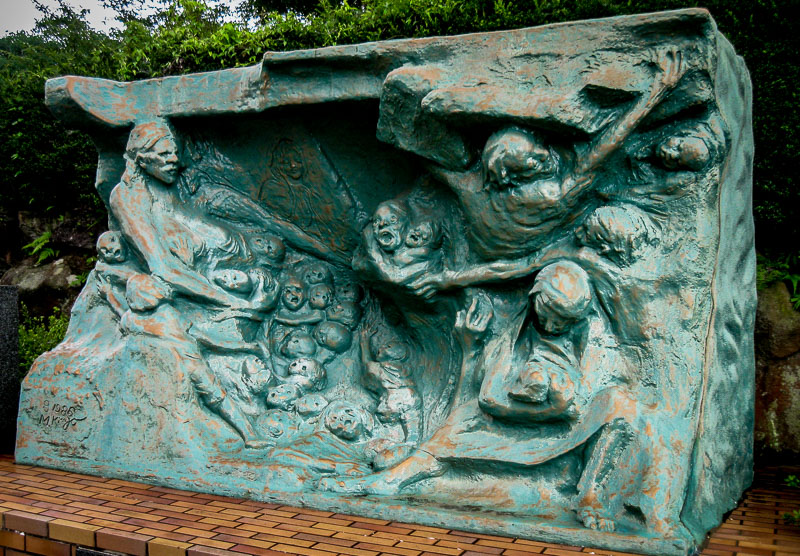Monument to mothers and children killed by the atomic bomb, Nagasaki