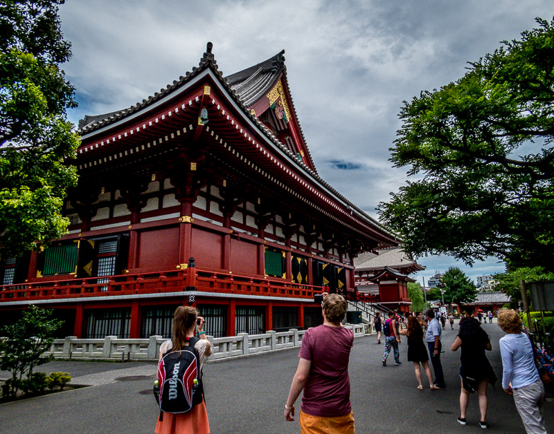 First view of Sensoji  Temple
