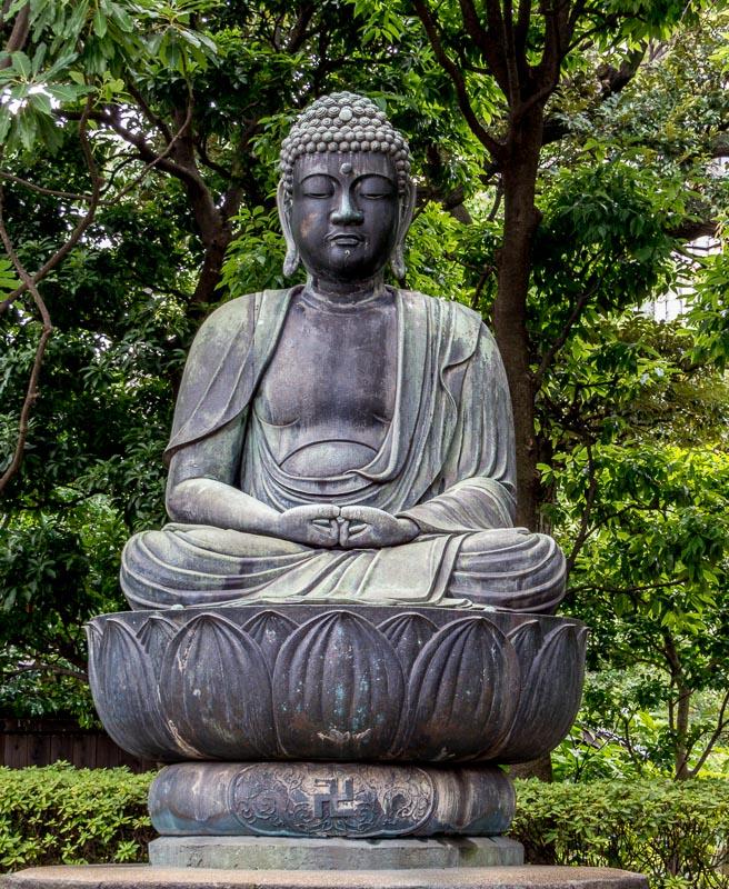 Zen Garden with Buddha statue