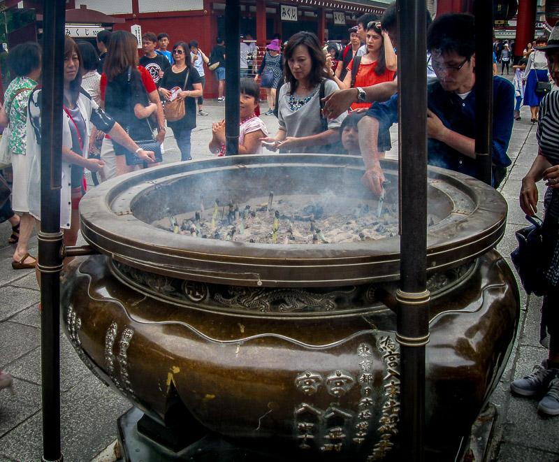 Incense burner to ward off illness