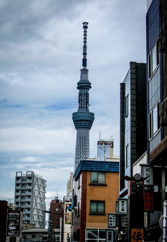 Tokyo Skytree viewed from the temple area