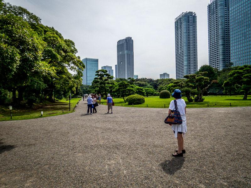 Hama-rikyu Gardens near entry