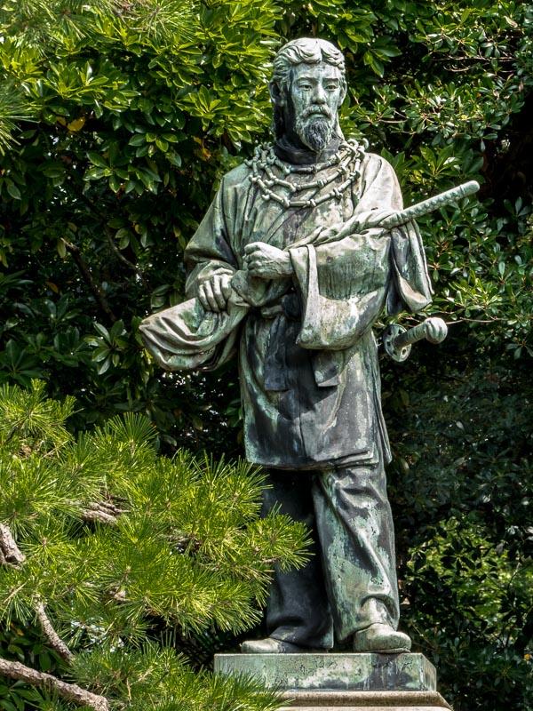 Hama-rikyu Gardens Statue of Hunter