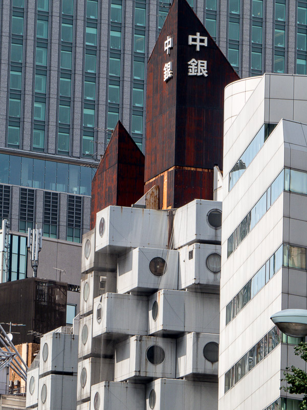 Closer look at the Nakagin Capsule Tower individual cubes