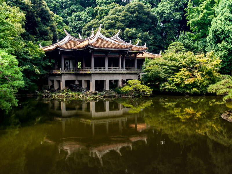 Traditional Tea House, wider view