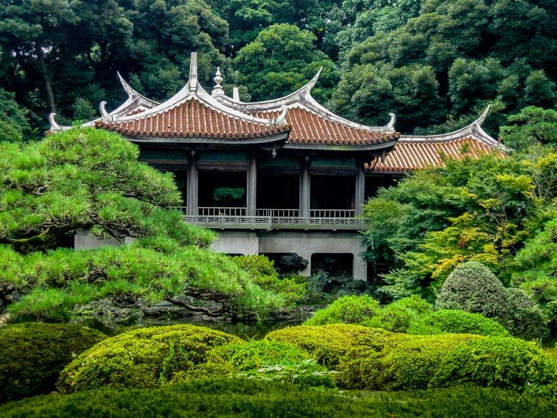 Traditional Tea House close view