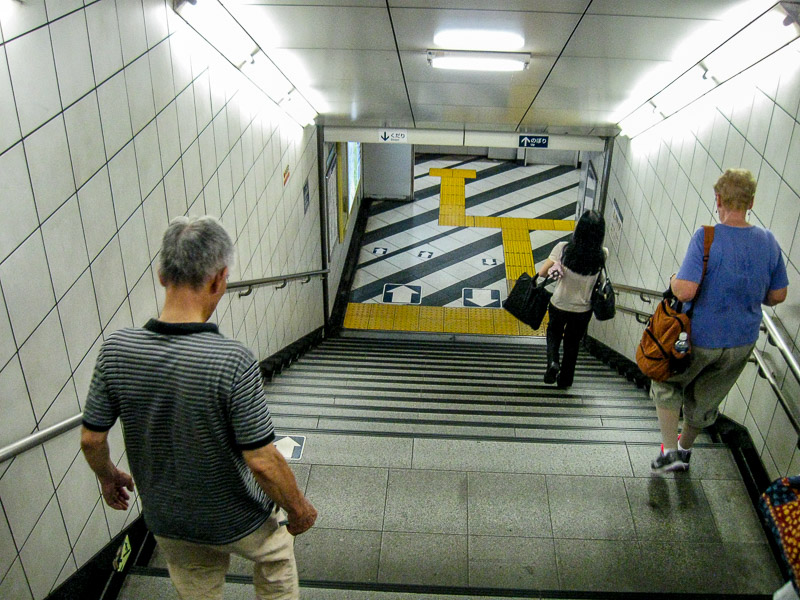 Yellow pathways for the visually impaired