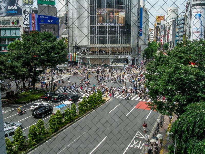 Shibuya Station Crosswalk - Elevated View