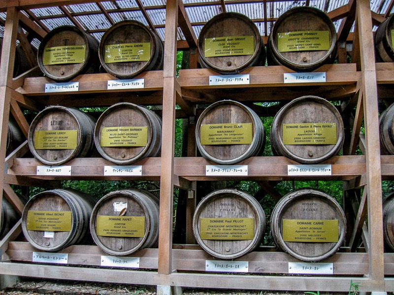 Wine barrels given to Japan from France as a token of friendship