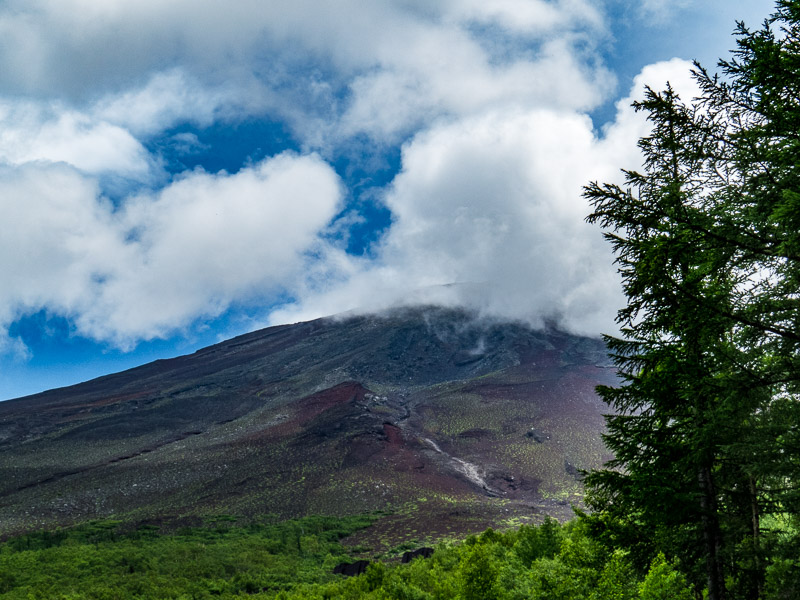 Mt. Fuji with Clouds Lifting