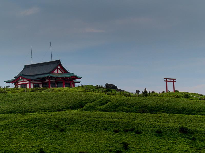 Pagoda-like building and Tori