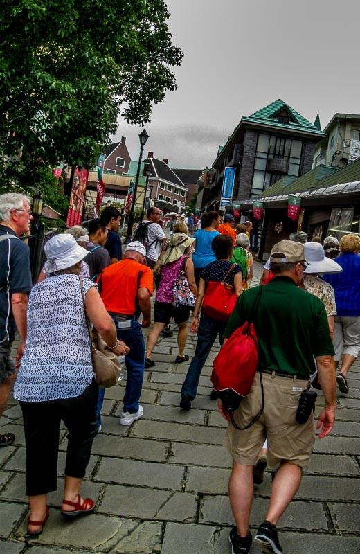 The walk uphill to Glover Garden, Nagasaki