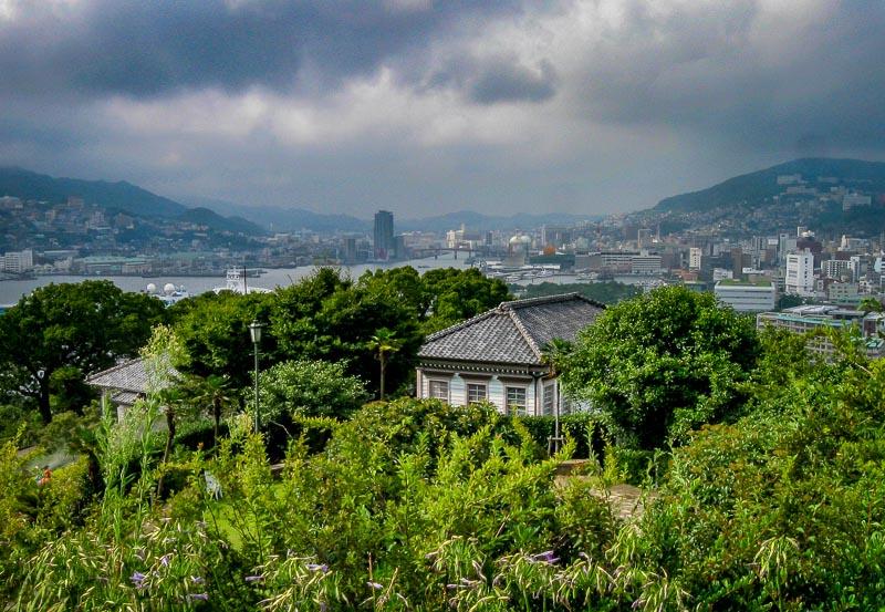 Threatening clouds at Glover Garden, Nagasaki