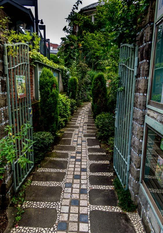 Enticing courtyard near Glover Garden, Nagasaki