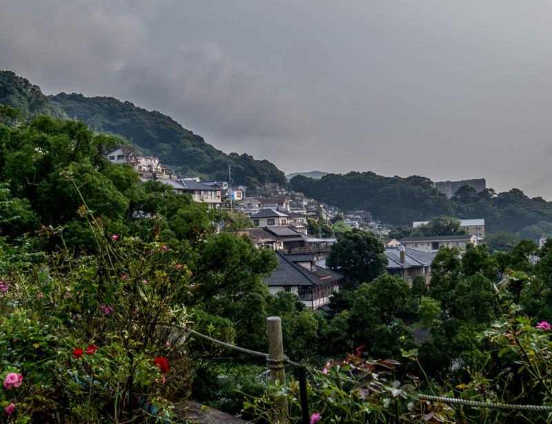 Houses on a hill near Glover Garden, Nagasaki