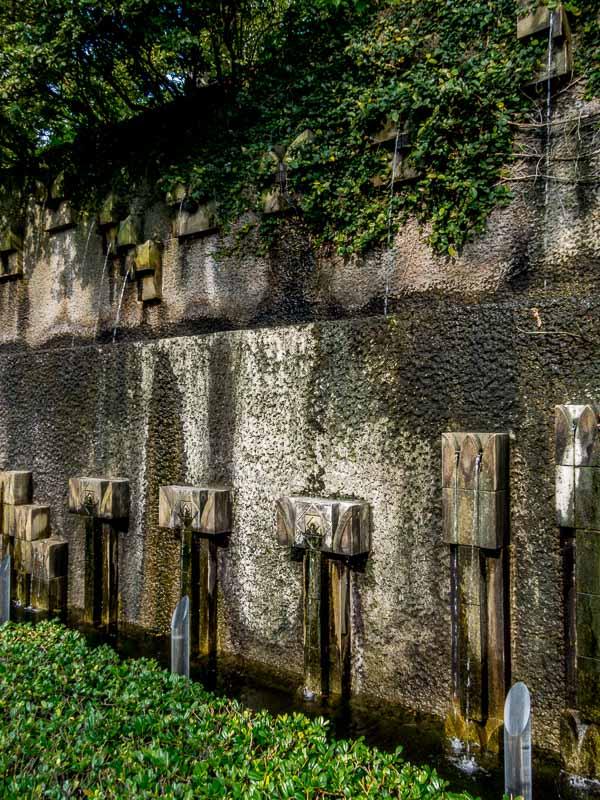 Calming dripping water at Glover Garden, Nagasaki