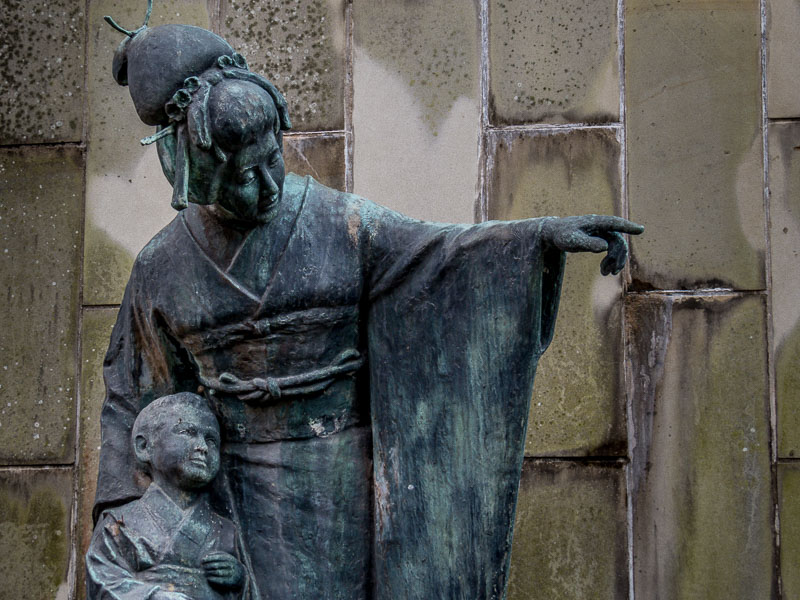 A statue of Madame Butterfly