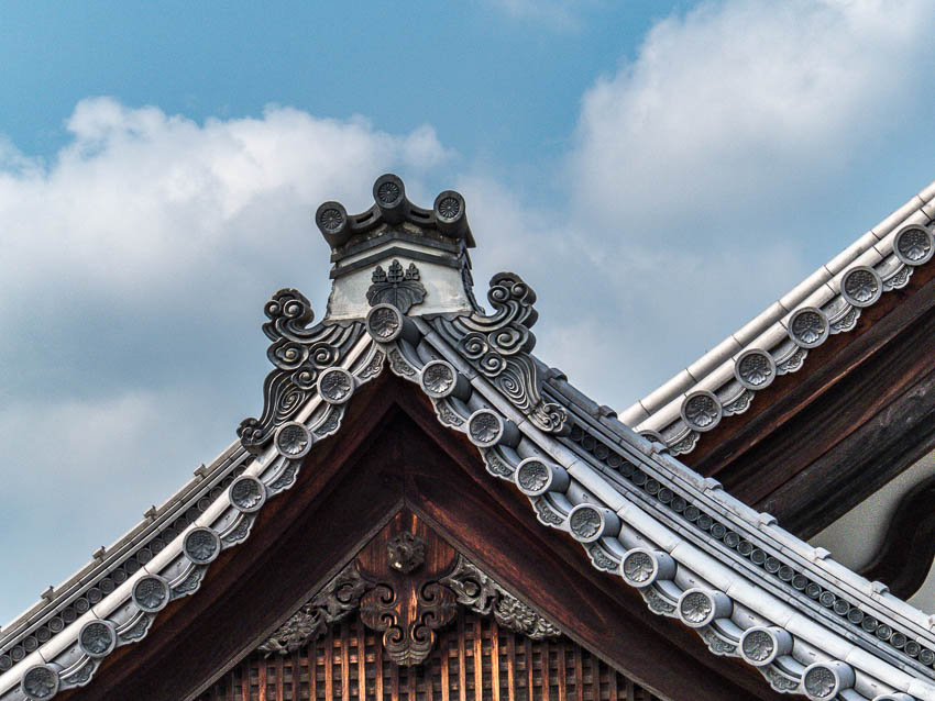 Architectural roof detail, Kyoto, Japan
